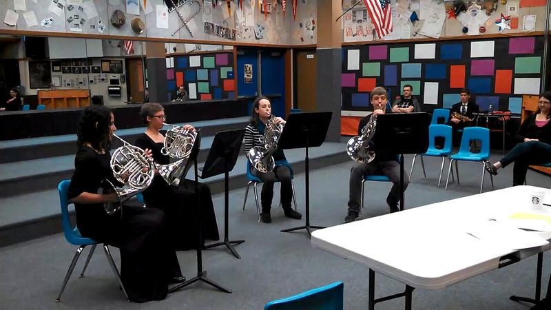 Finish of  horn quartet at ensemble festival, 8 March 2014