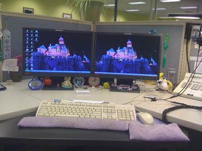 My desk at work