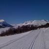 Utsikt fra skiløypa retning Gjevilvasshytta fra øst.