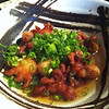 Fried baby octopus... Very good!<br /> <br /> Taken with SmugShot on my iPhone
