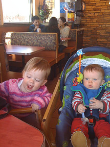 Cousins!  Sweet baby Kate and sweet baby Michael