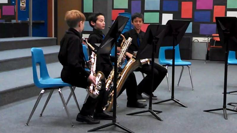 Colina sax trio at ensemble festival, 8 March 2014