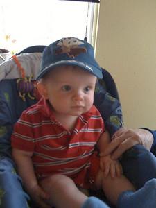 Michael moo in his big boy hat