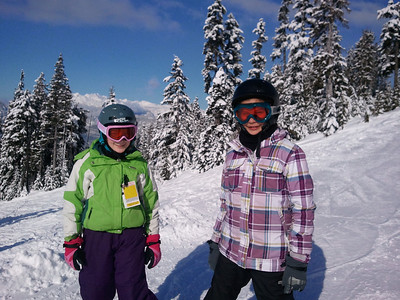 Sarah and Taylor on Blackcomb