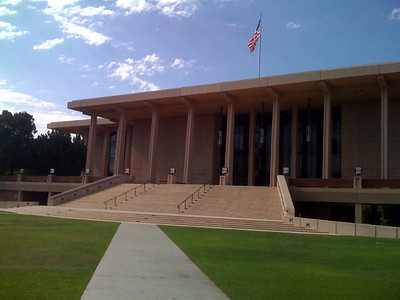 Oviatt library at CSUN. Its big