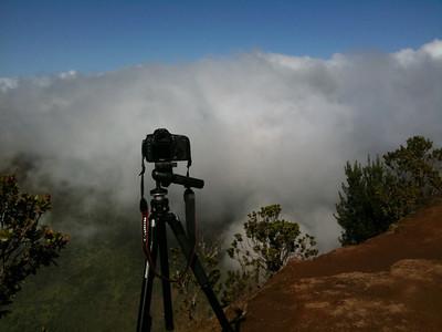 Canon 7d timelapse setup, Kokee State Park, Kauai, Hawaii