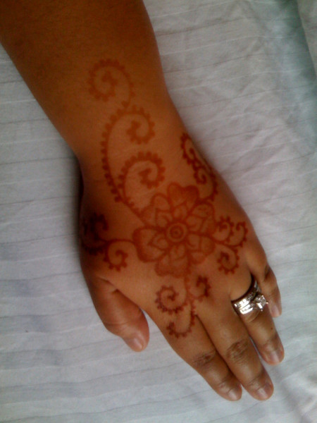 My mendhi from last night's gathering