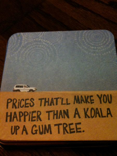 Outback Steakhouse coaster