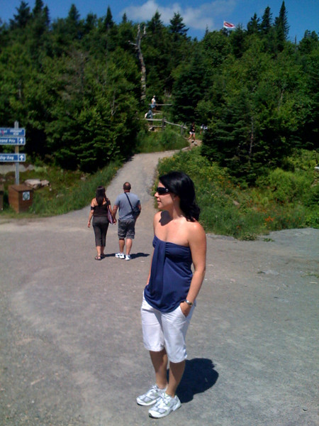 Maureen at the top of Tremblant.