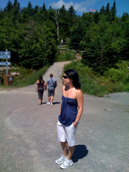 Maureen at the top of Tremblant.