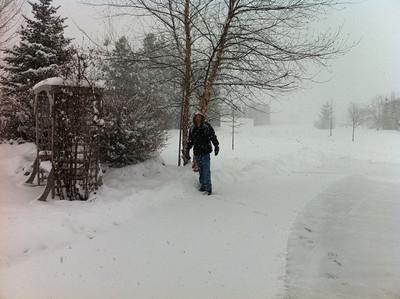 We had a big snow storm the end of Feb 2011