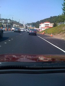 Following Ted's car