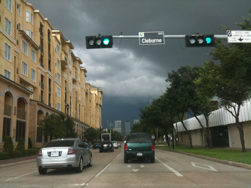 Summer thunderstorm in Houston
