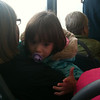 Little girl on the bus I was playing hand games with for ages haha