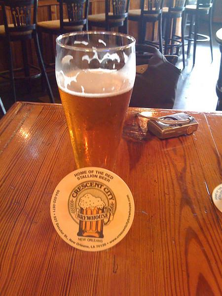 Mmmm..... Red Stallion beer in NOLA