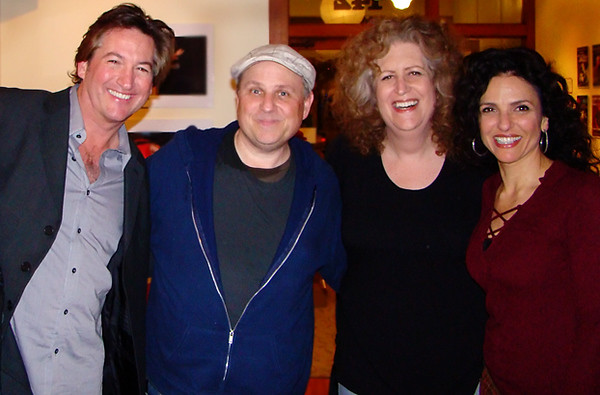 Mark Pitta, Bobcat Goldthwait, Robin Diane Goldstein and Jann Karam @ 142 Throckmorton Theater in Mill Valley, CA on Valentine's Day, 2009