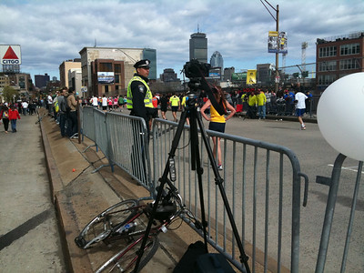 Timelapse setup Boston marathon mile 25. [April 19, 2010]  Watch the movie on Vimeo.  http://vimeo.com/11165649