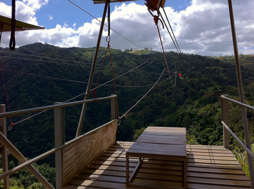 The Beast zipline in Puerto Rico
