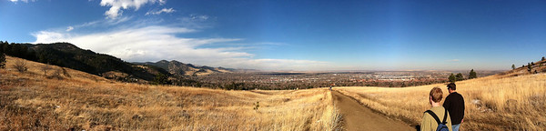 Panoramic photo of Boulder from Chautauqua using pano for iPhone