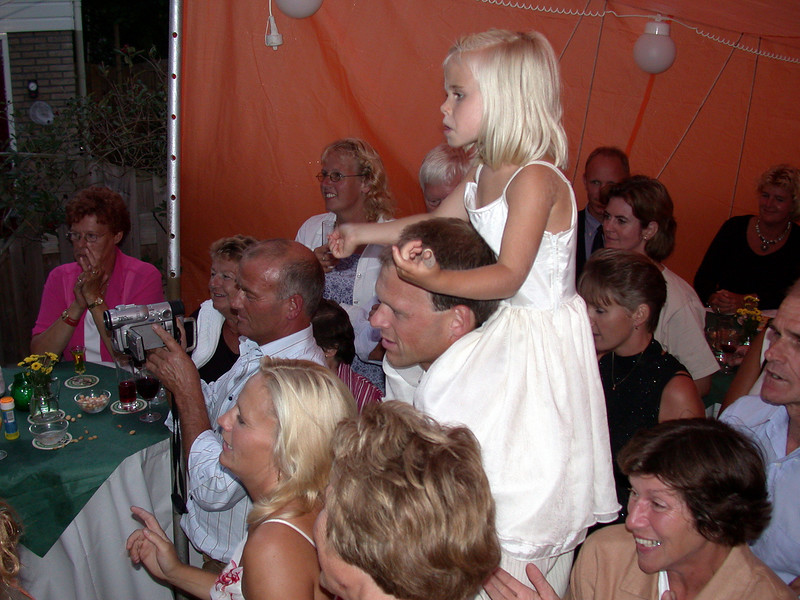Wedding Anniversary. Hans and one of his daughters.