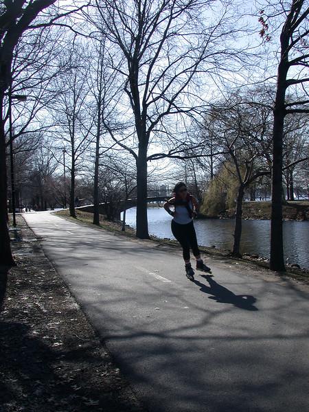 Lone skater.