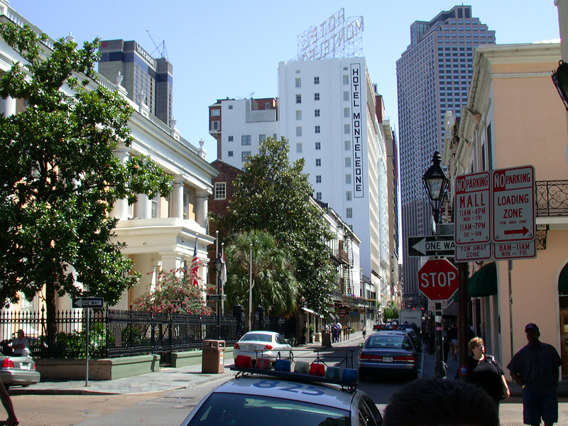 Rue Royal with view on Hotel MonteLeone (known from the movie Double Jeopardy).