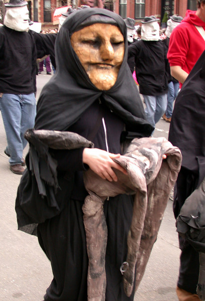 Protesters (10): An iraqi mythical figure with a dead child.