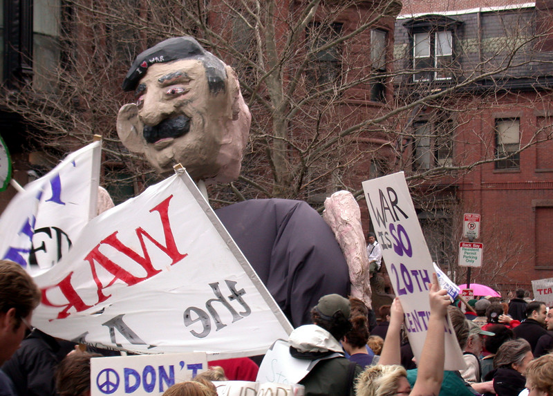 Protesters (8): George from the back...