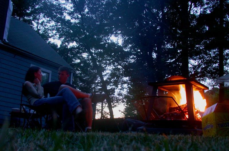 At the campfire (2).