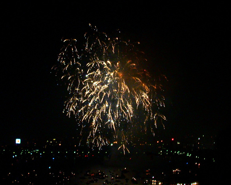 Fireworks Boston, 4th of July.