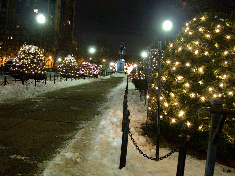 View on the Public Garden, toward Comm. Ave.