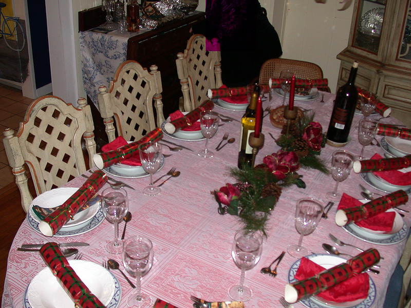 The dinner table.