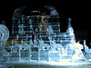 Ice sculpture with sculpter at Copley Sq 3.