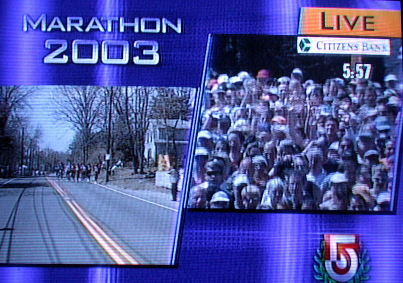 Start of the marathon in Hopkinton.