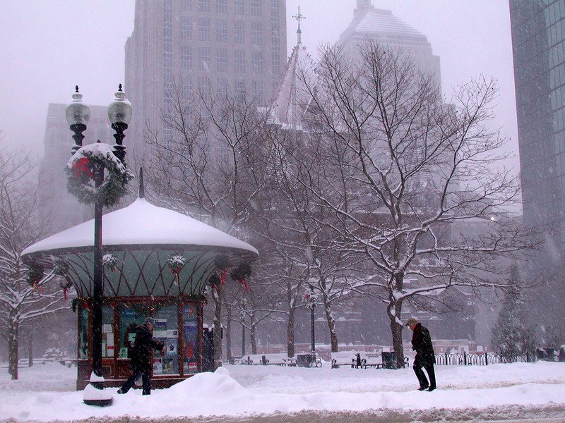 Copley Square: Cold and windy.