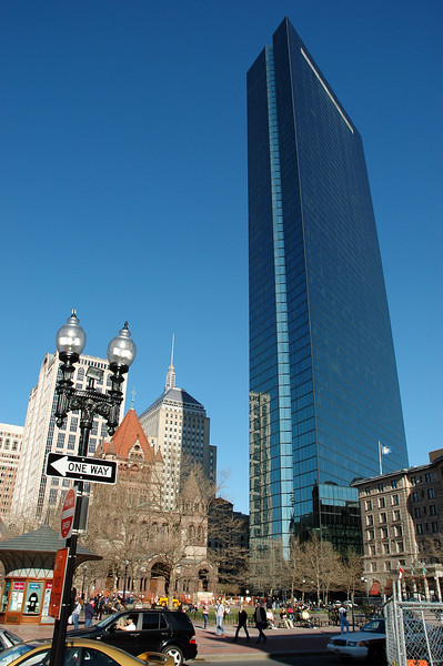 Copley Square. Nice blue color gradient and perspective warp.