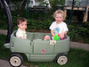 smiling in wagon I