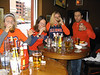 Doing shots before illini game. sue\'s face... priceless