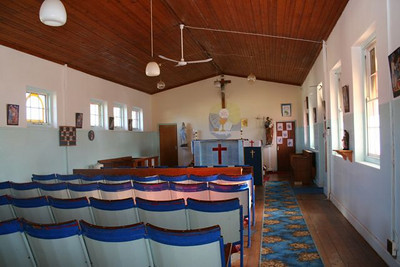 Inside St. Theresa's of Graaff Reinet.