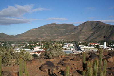 St. Theresa's is on a hill that overlooks the town of Graaff Reinet.  This is the view from the church property.