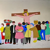 The mural in the parish hall of St. Theresa's.