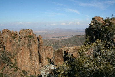 Looking out from above Graaff Reinet.
