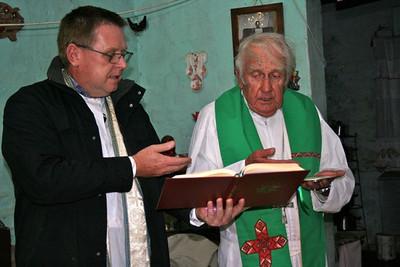 Fr. Peter and Bishop Joe.