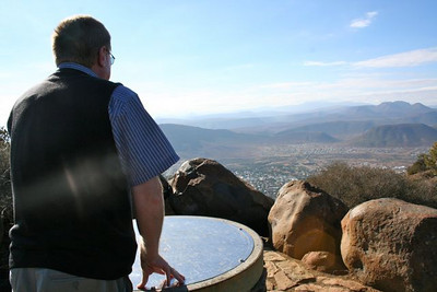 Graaff Reinet sits between a series of large hills.  At this overlook Fr. Peter would celebrate Mass with youth from the area.
