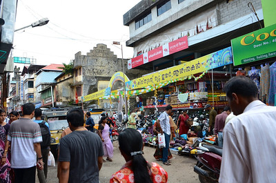 Heading toward the market near Kochi. Photos can never capture the energy and chaos of an Indian street.