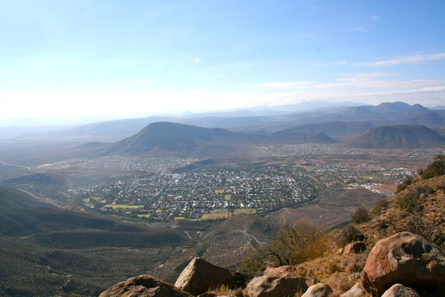 The Valley of Desolation is outside of Graaff Rainet.  From its peaks you can easily see the town as well as what was traditionally the adjacent locations for blacks and those of mixed race.