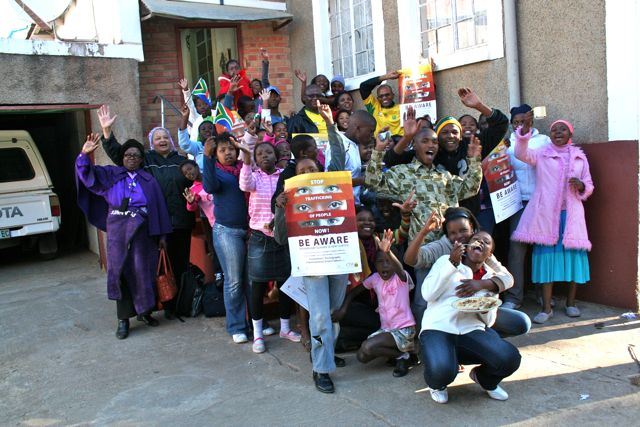 Human trafficking and smuggling is an incredible problem.  187 young people from St. Teresa Mission were a part of larger youth gathering working to bring to light the issue in the wake of the World Cup.  Here some of the young people hold up the posters that encourage young people not to fall prey to traffickers.