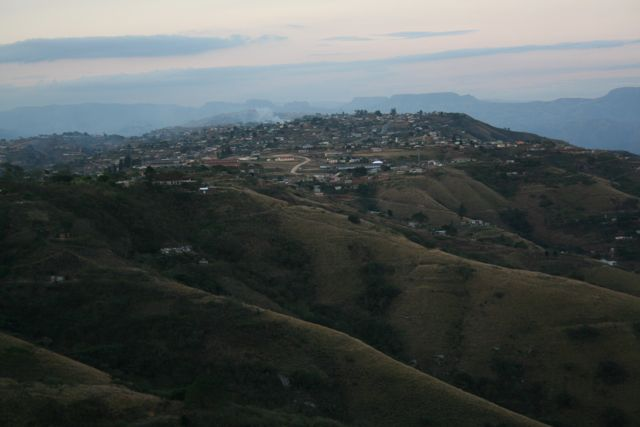 One of the best views of the Valley of 1000 Hills is from the backyard of a sisters' community in Inchanga.  The sisters host a shelter for abused women.