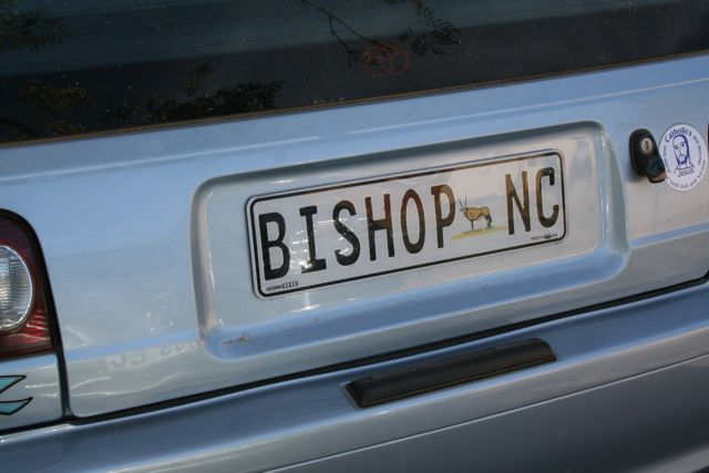 One of my visits was with a retired bishop from the United States, Bishop Joe Potocnak.  Finding his car wasn't too hard.