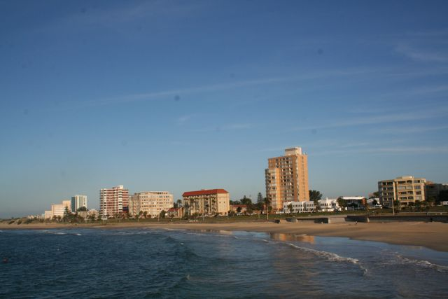The shore of Port Elizabeth